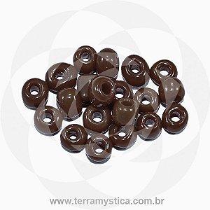 Miçanga Marrom-Opaco - Pct 40g/400 contas