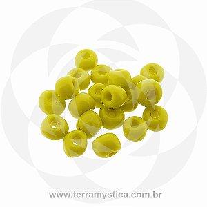 Miçanga Amarelo-Opaco - Pct 40g/400 contas