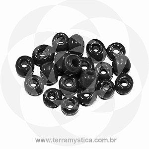 Miçanga Preto-Opaco - Pct 40g/400 contas