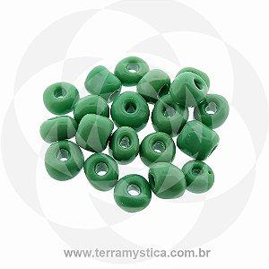 Miçanga Verde-Opaco - Pct 40g/400 contas