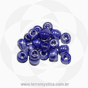 Miçanga Azul-Royal Opaco - Pct 40g/400 contas