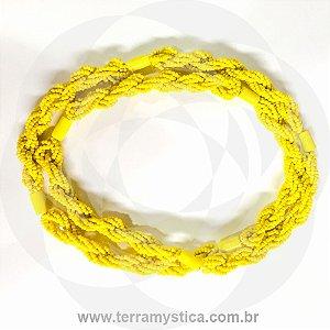 GUIA IMPERIAL - BRAJA AMARELO - Trançado com Firma Amarelo