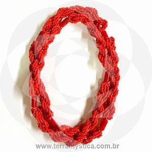 GUIA IMPERIAL - BRAJA VERMELHO - Trançado com Firma Vermelha
