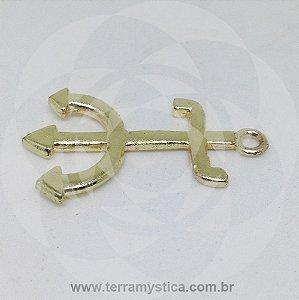 TRIDENTE POMBA GIRA - Pingente Dourado