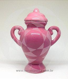 QUARTINHA DE LOUÇA ROSA - 20 cm com alça