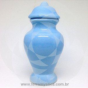 QUARTINHA DE LOUÇA AZUL CLARO - 18 cm sem alça