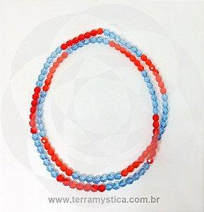 GUIA DE CRISTAL - Azul Claro e Laranja