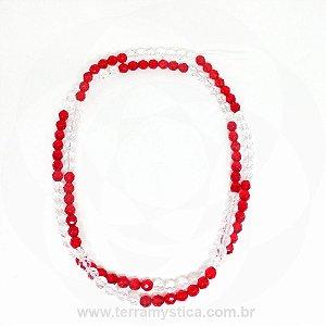 GUIA DE CRISTAL - Vermelho e Transparente