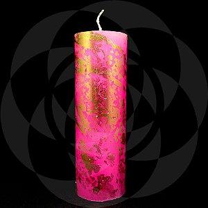 VELA 7 DIAS - Rosa com Ouro