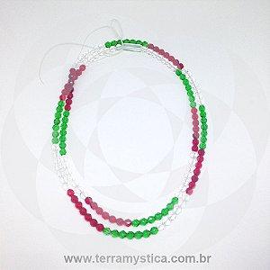 GUIA DE CRISTAL - Vermelho, Verde e Branco
