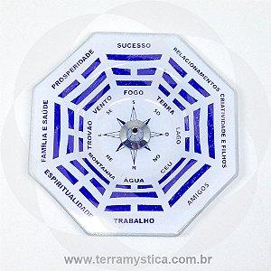 INCENSARIO DE VIDRO - BAGUÁ : AZUL