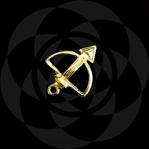PINGENTE ARCO E FLECHA - Dourado : Oxóssi