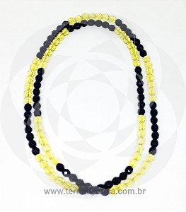 GUIA DE CRISTAL - Amarelo e Preto