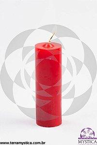 VELA 7 DIAS - Rosa Vermelha - Vermelho