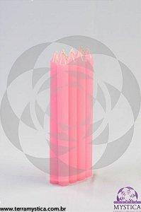 VELA PALITO - Rosa I Maço com 8 un.