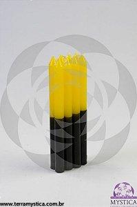 VELA PALITO - Amarela e Preta I Maço com 8 un.
