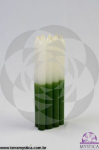 VELA PALITO - Branca e Verde I Maço com 8 un.