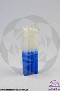 VELA PALITO - Branca e Azul I Maço com 8 un.