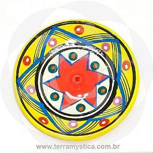 INCENSARIO DE CERAMICA - AMARELO