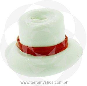 FIRMA ESPECIAL DE VIDRO - Chapéu Branco e Vermelho