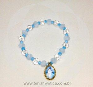 PULSEIRA DE CRISTAL E MIÇANGAS - ORIXÁS - IEMANJÁ - Medalha