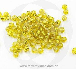 Miçanga Amarela Transparente - Pct 40g/400 contas