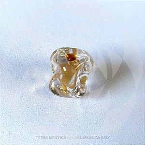 FIRMA METEORO DE VIDRO - Cristal com dourado