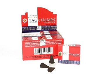 INCENSO GOLDEN NAG CHAMPA CONE