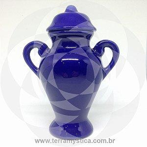 QUARTINHA DE LOUÇA AZUL ROYAL 15 cm com alça