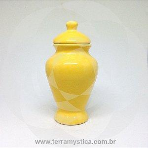 QUARTINHA DE LOUÇA AMARELO 15 cm sem alça
