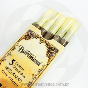 CIGARRILHA BARONESA - Chocolate - Com Piteira