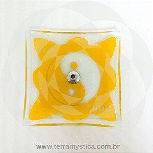 INCENSÁRIO DE VIDRO ORIENTAL - Amarelo