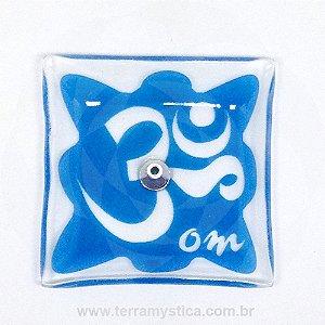 INCENSÁRIO DE VIDRO ORIENTAL -  Azul