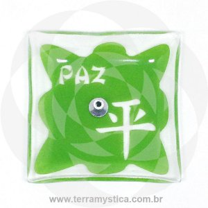 INCENSÁRIO DE VIDRO ORIENTAL - Verde