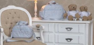 Kit de Bolsas Coroa Azul Bebê com duas peças