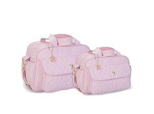 Kit de Bolsas Corações 2 Peças Rosa