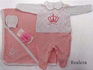 Saída de Maternidade Realeza Rosa