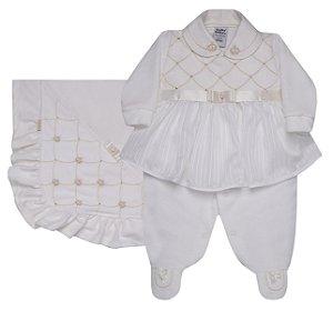 Saida de Maternidade Luxo Off Plush