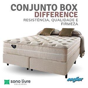Conjunto Box Casal Molas Ensacadas Difference Ecoflex 138x188x35