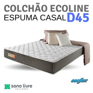 COLCHÃO CASAL ESPUMA ECOLINE D45 138X188 ECOFLEX