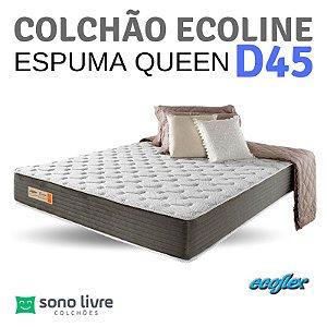 COLCHÃO QUEEN ESPUMA ECOLINE D45 158X198 ECOFLEX