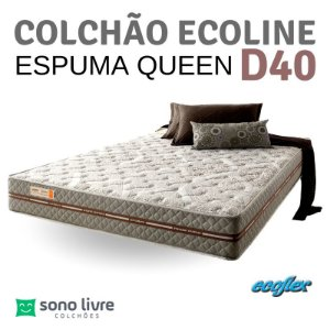 COLCHÃO CASAL QUEEN ESPUMA ECOLINE D40 158X198 ECOFLEX