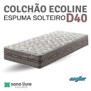 COLCHÃO SOLTEIRO ESPUMA ECOLINE D40 088X188 ECOFLEX