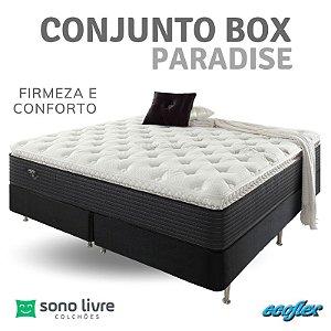 Conjunto Box Queen Paradise Ecoflex 158 x 198 x 35