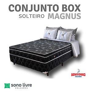 Conjunto Box Solteiro Magnus Newsonno 88 x 188