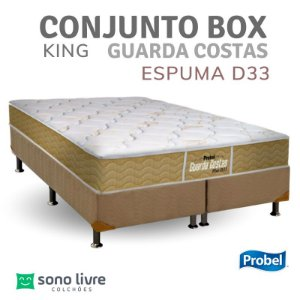 CONJUNTO BOX KING ESPUMA D33 GUARDA COSTAS PROBEL 193 X 203 X 30