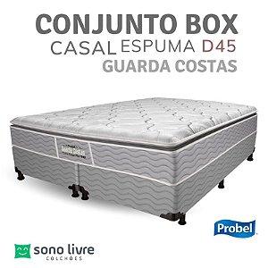 CONJUNTO BOX CASAL ESPUMA D45 GUARDA COSTAS PROBEL 138 X 188 X 30