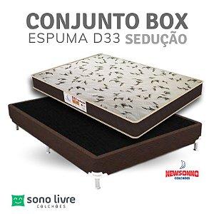 Conjunto Box Casal Espuma Sedução Newsonno 138 x 188 x 17