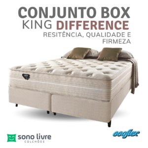 Conjunto Box King Molas Ensacadas Difference Ecoflex 193 x 203 x 35