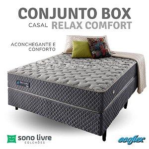 Conjunto Box Casal Relax Comfort Ecoflex 138 x 188